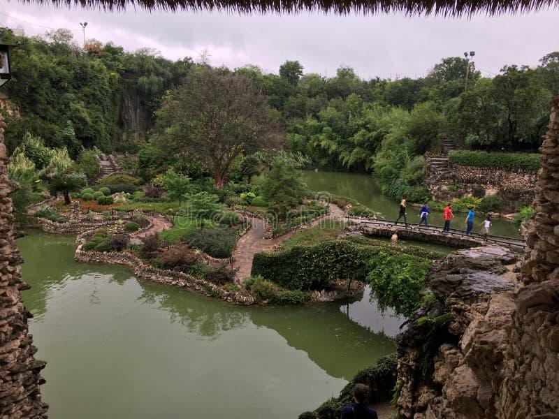 Jardim de chá japonês em San Antonio, Texas fotografia de stock