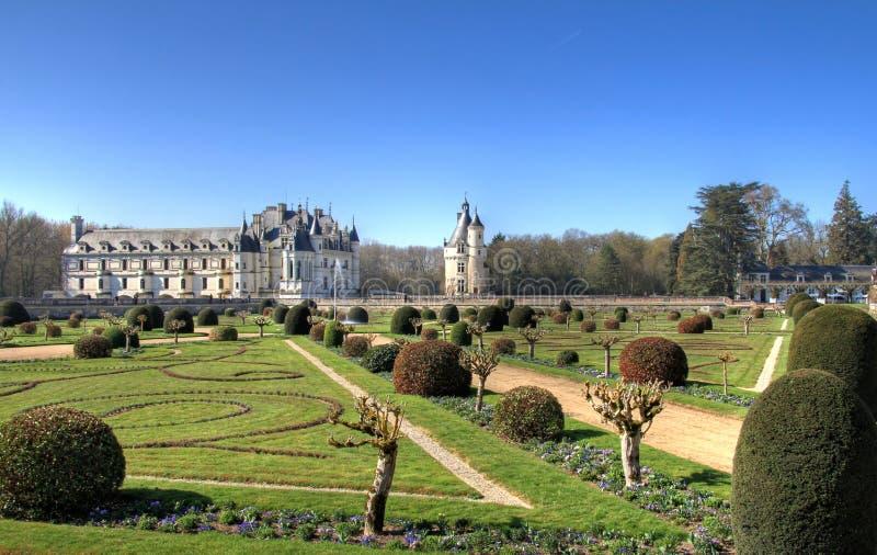 Jardim de Chenonceau imagem de stock