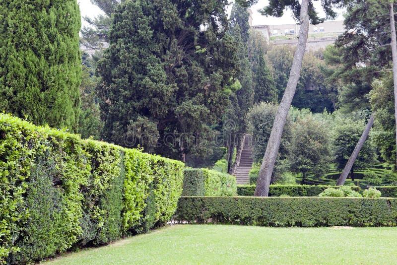 Jardim de Este16th-century da casa de campo d ', Tivoli, Itália Local do património mundial do Unesco foto de stock