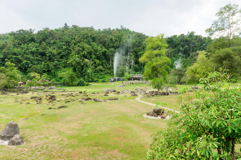 Jardim de Fang Hot Springs imagem de stock