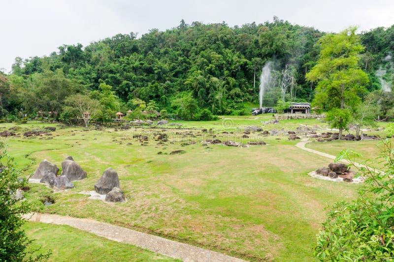 Jardim de Fang Hot Springs imagens de stock