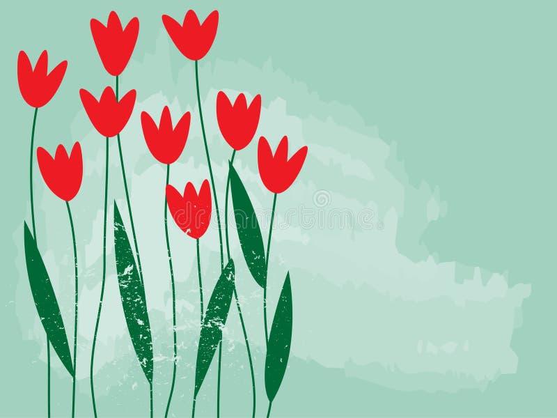 Jardim de flor da mola ilustração stock