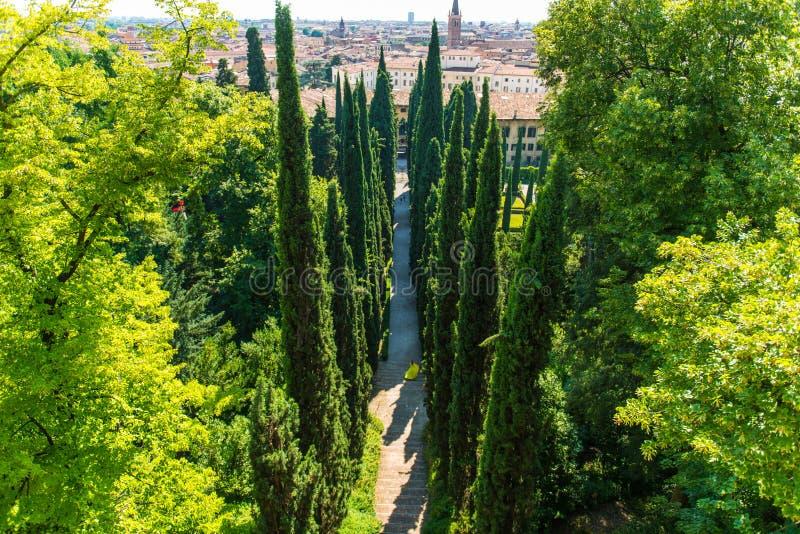 Jardim de Giusti em Verona, Itália imagens de stock