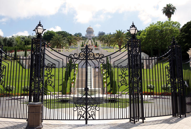 Jardim de Haifa Bahai foto de stock royalty free