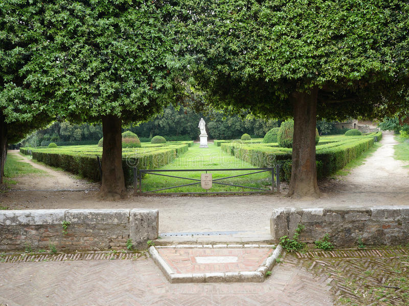 Jardim de Horti Leonini. San Quirico, Toscânia imagem de stock royalty free