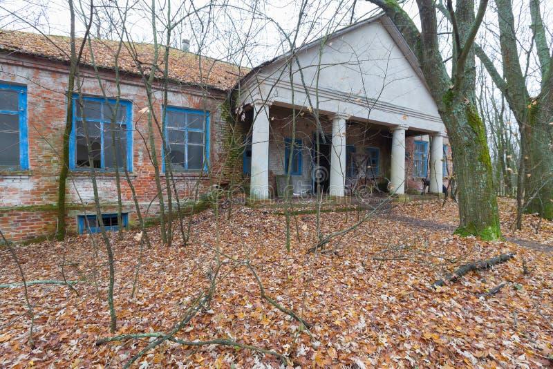 Jardim de infância arruinado em Chernobyl foto de stock
