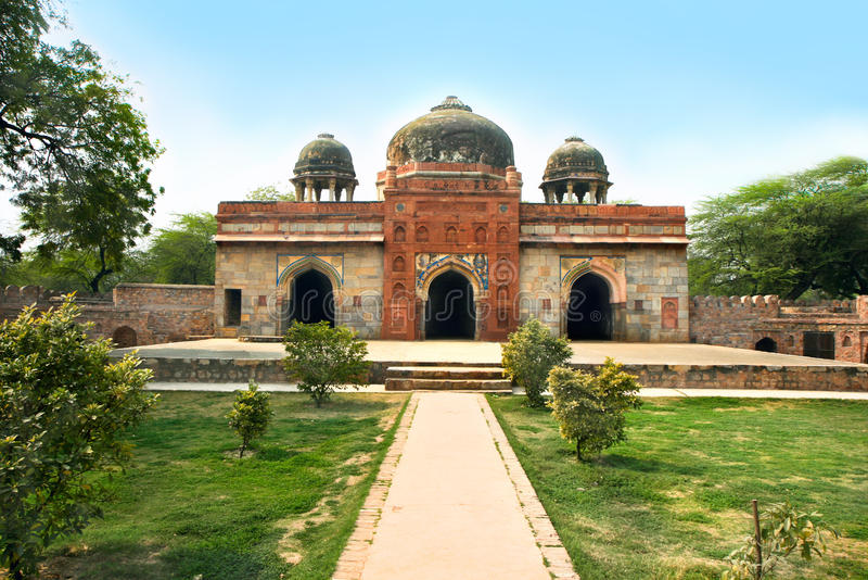 Jardim de Lodi na cidade de Deli, India imagens de stock