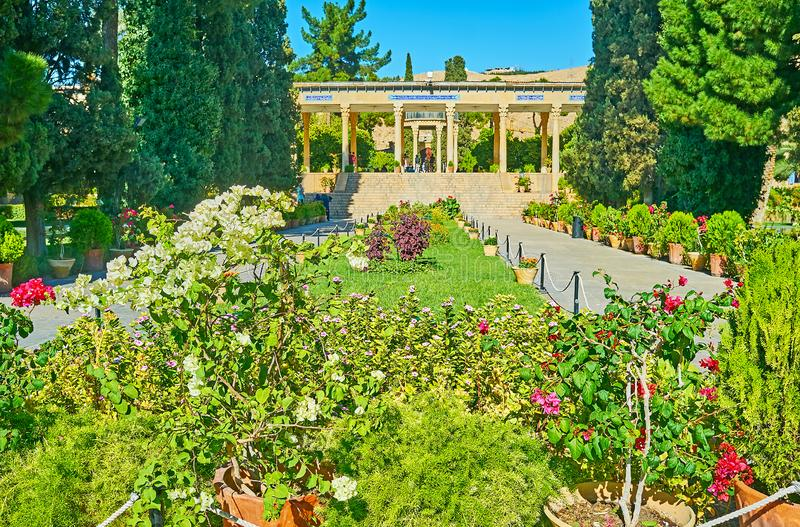 Jardim de Mussala em Shiraz, Irã imagens de stock royalty free