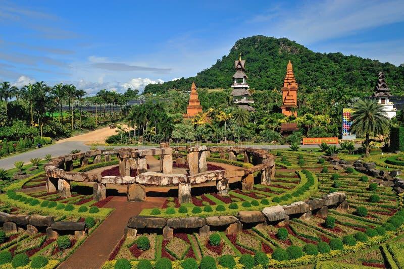 Jardim de Nong Nooch em Pattaya fotografia de stock royalty free