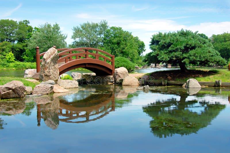 Jardim de Osaka em Chicago fotos de stock