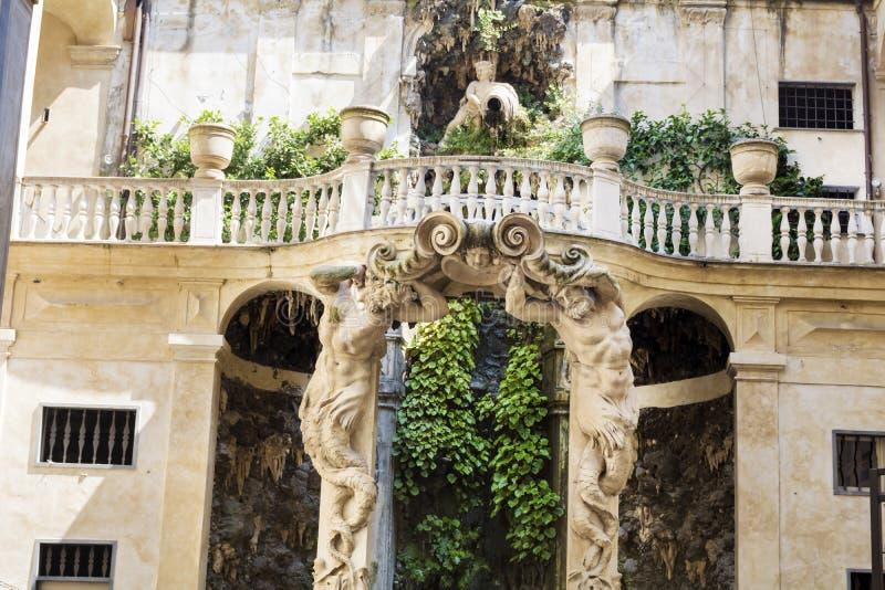 Jardim de Palazzo Bianco, Genoa, Itália imagem de stock