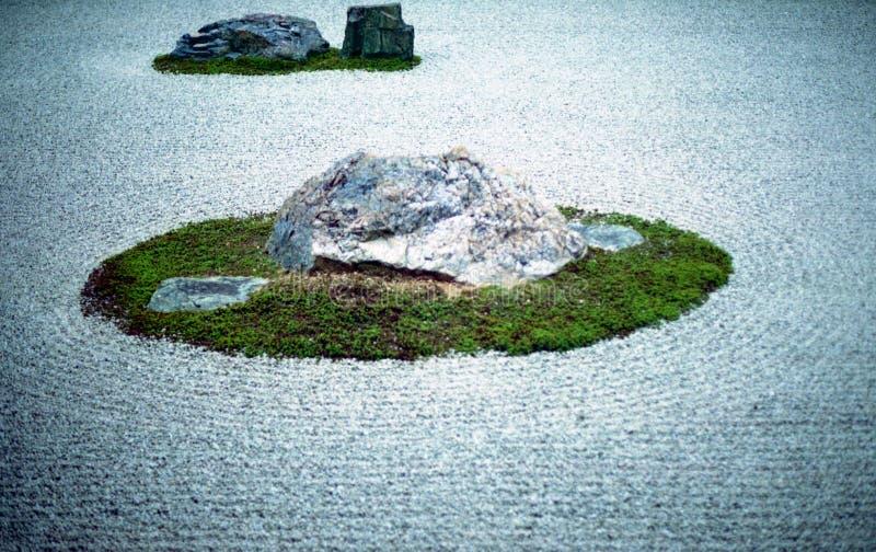 Jardim de rocha do zen de Ryoanji fotografia de stock