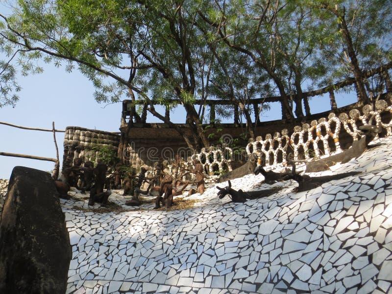 Jardim de rocha foto de stock