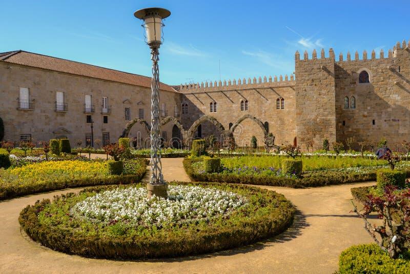 Jardim de Santa Barbarain Braga imagem de stock royalty free