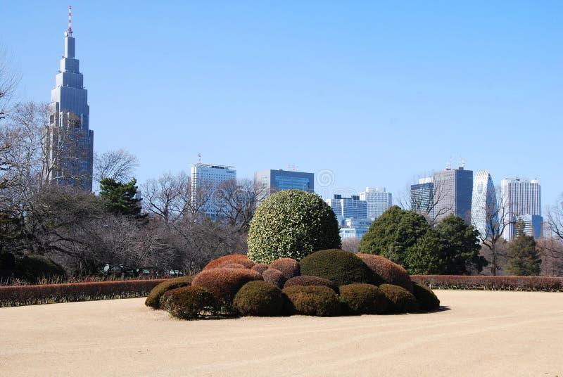 Jardim de Shinjuku foto de stock