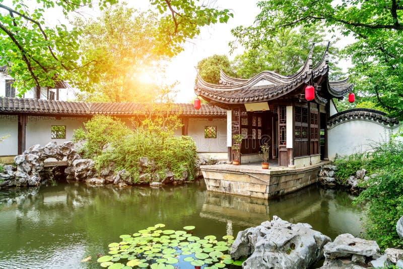 Jardim de Suzhou, China fotografia de stock