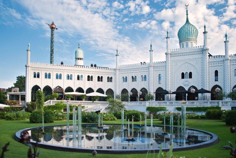Jardim de Tivoli em Copenhaga fotos de stock
