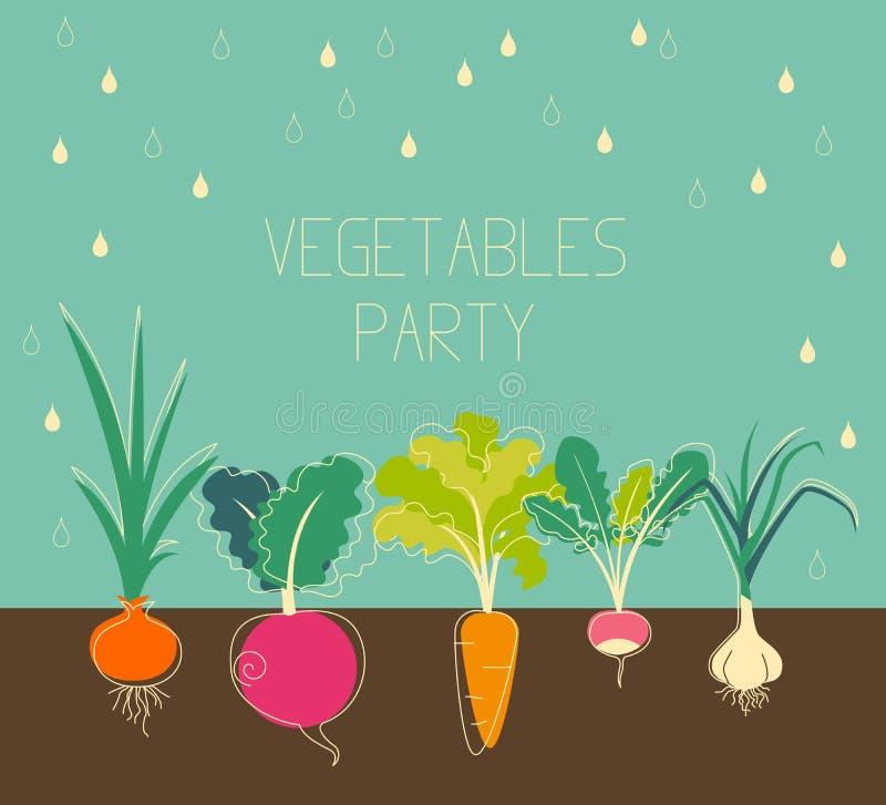 Jardim de vegetais ilustração royalty free
