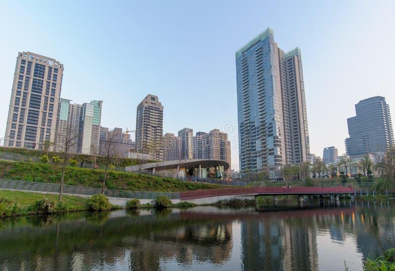Jardim do bordo na cidade de taichung fotos de stock