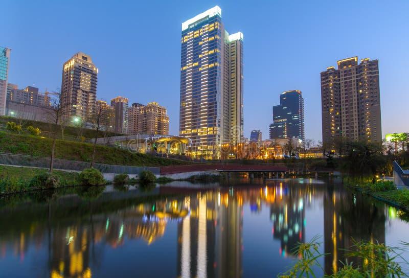 Jardim do bordo na cidade de taichung imagem de stock