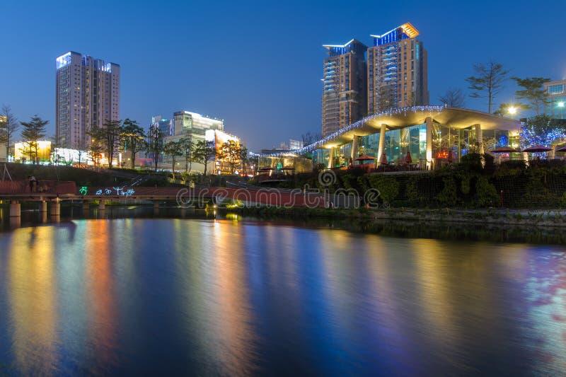 Jardim do bordo na cidade de taichung foto de stock