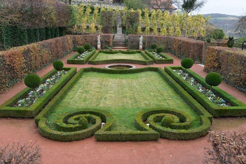 Jardim do castelo de Dornburg fotografia de stock royalty free