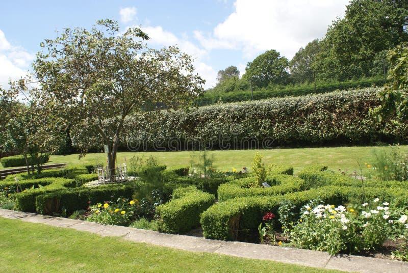 Jardim do castelo de Herstmonceux fotografia de stock