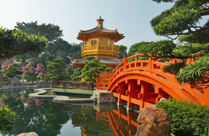 Jardim do chinês tradicional imagens de stock royalty free