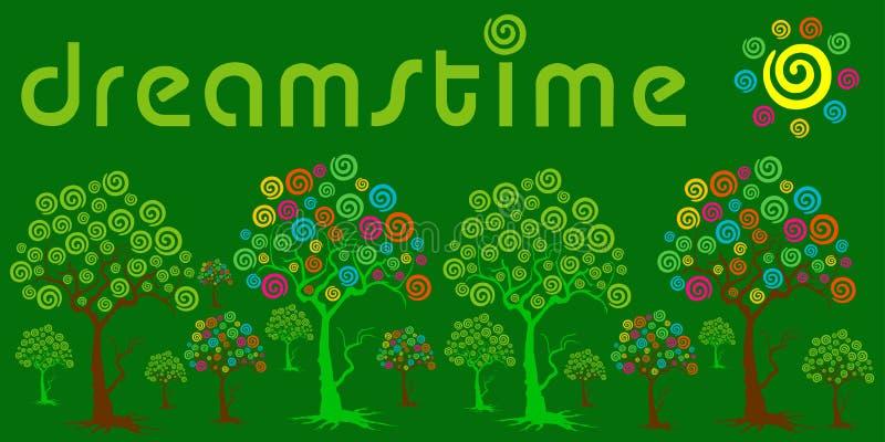 jardim do dreamstime e fundo verde ilustração royalty free