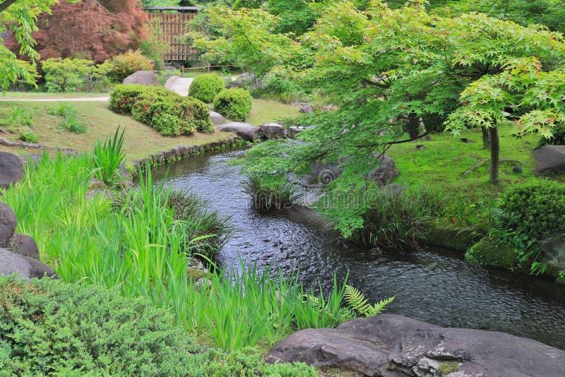 Jardim do en de Koko em Himeji, foto de stock
