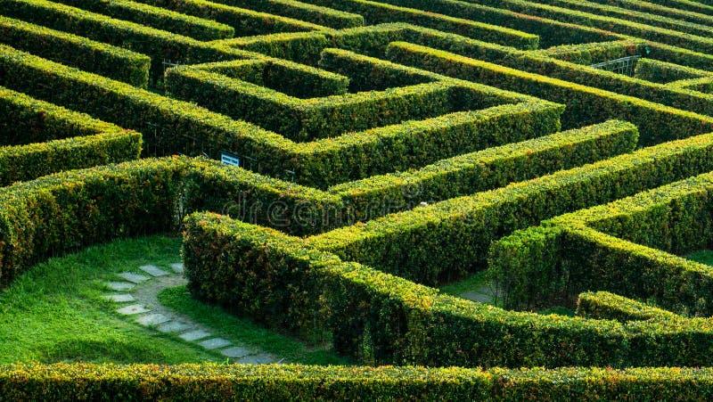 Jardim do labirinto em Taman Bunga Nusantara imagens de stock