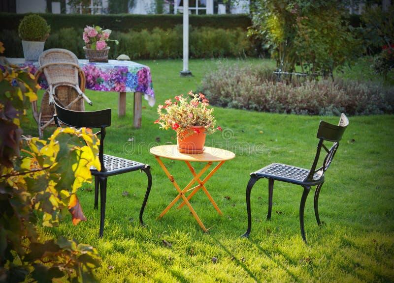 Jardim do outono imagens de stock