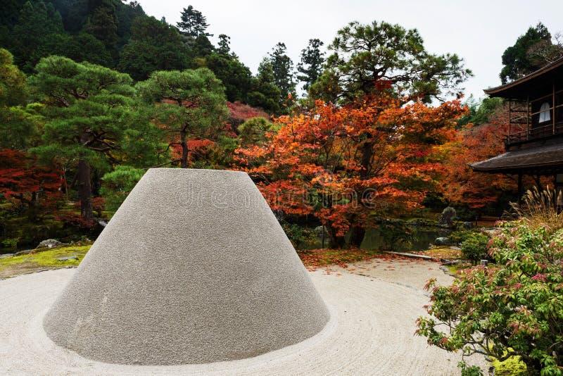 Jardim do outono do templo de Ginkakuji, Kyoto imagens de stock royalty free