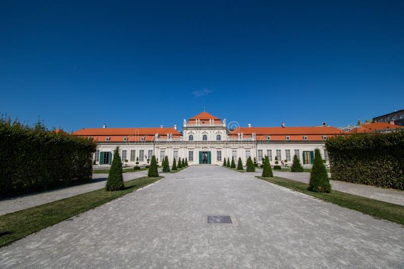 Jardim do palácio do Belvedere em Viena, Áustria foto de stock