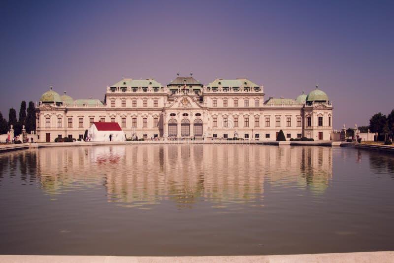 Jardim do palácio do Belvedere em Viena, Áustria fotos de stock