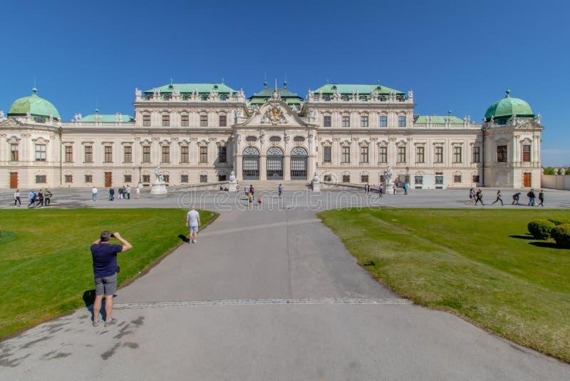 Jardim do Palácio de Belvedere, Viena, Áustria fotografia de stock royalty free