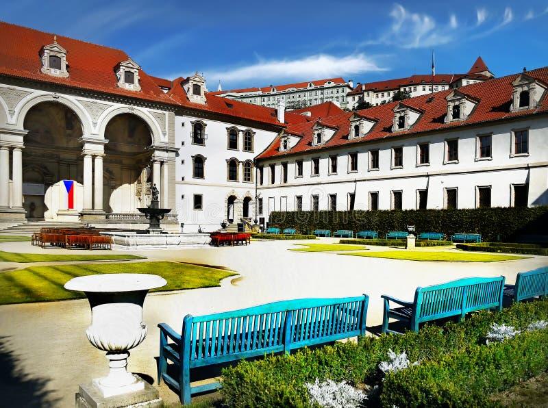 Jardim do palácio de Waldstein, Praga fotos de stock