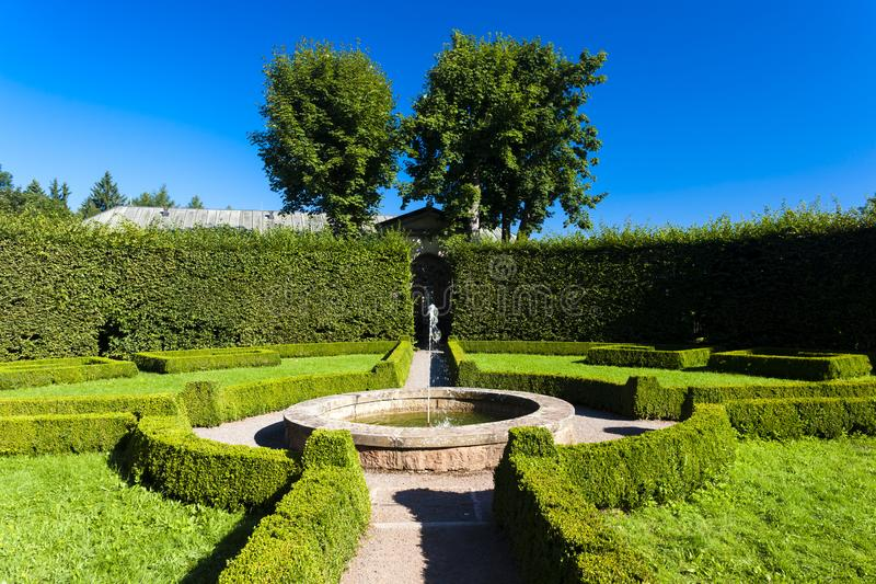 jardim do palácio em Nachod, República Checa foto de stock royalty free