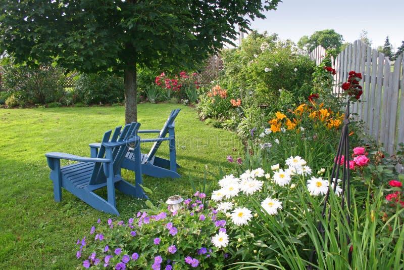 Jardim do quintal fotos de stock