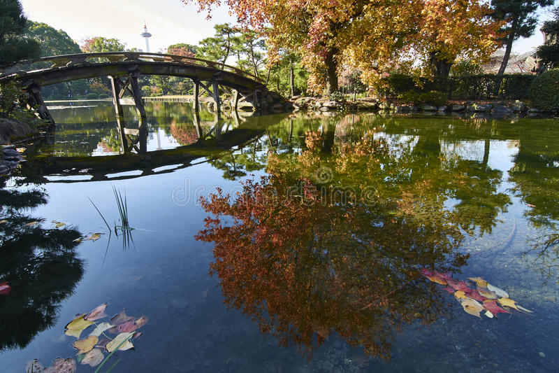 Jardim do Shosei-en de E em Kyoto Japão fotos de stock royalty free