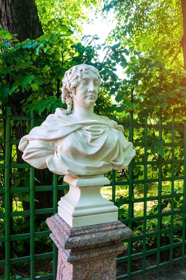 Jardim do ver?o em St Petersburg, R?ssia Kurfursten de Brandemburgo - esposa de Frederick I, rei de Prússia imagem de stock royalty free