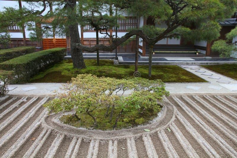 Jardim do zen de Kyoto imagem de stock