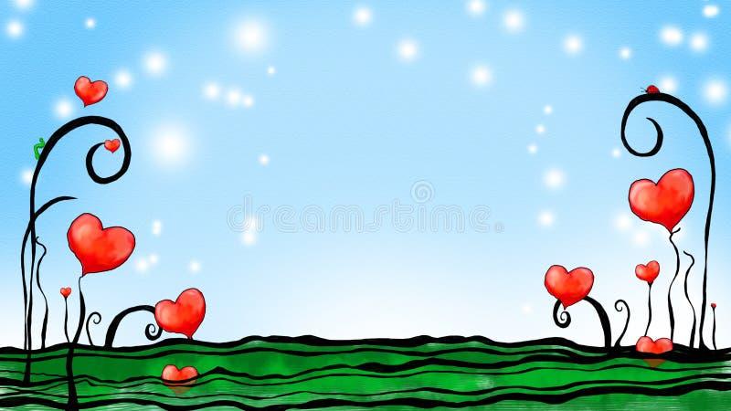 Jardim dos corações ilustração royalty free