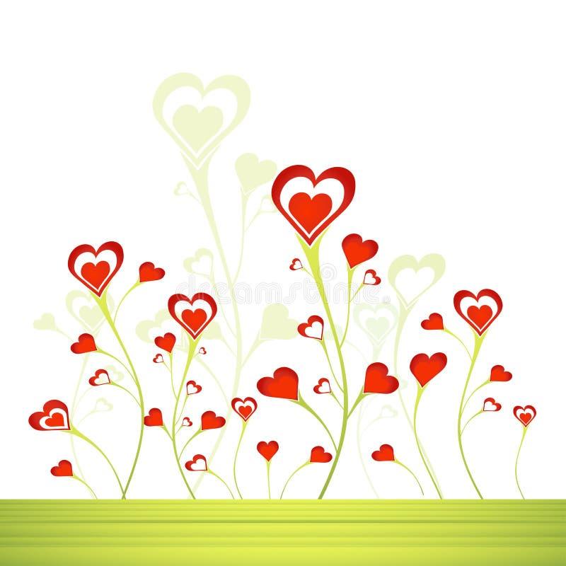 Jardim dos corações, vetor ilustração royalty free