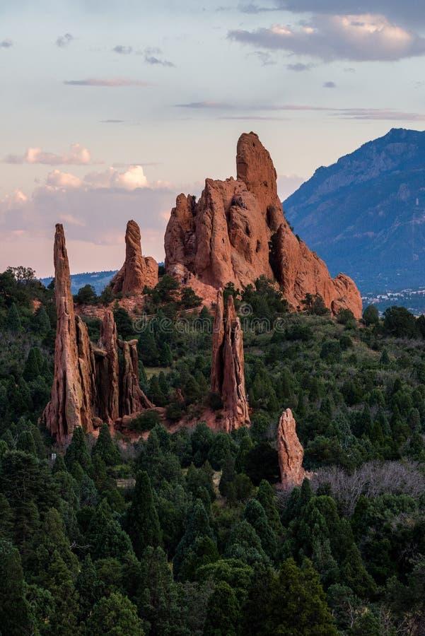 Jardim dos deuses Colorado imagens de stock