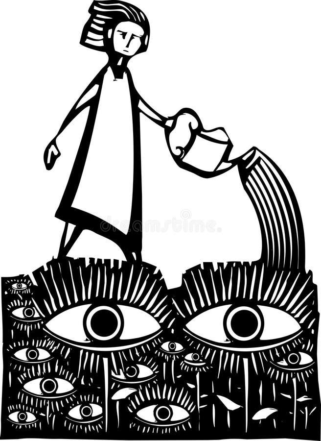 Jardim dos olhos ilustração royalty free