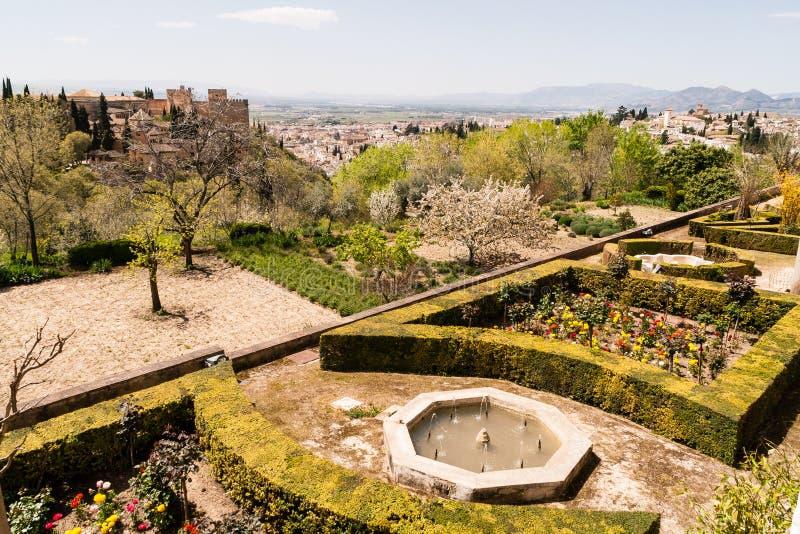 Jardim e vistas imagem de stock