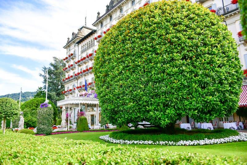Jardim em Stresa no lago Maggiore, Itália fotos de stock