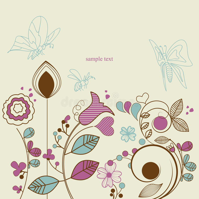 Jardim floral ilustração stock