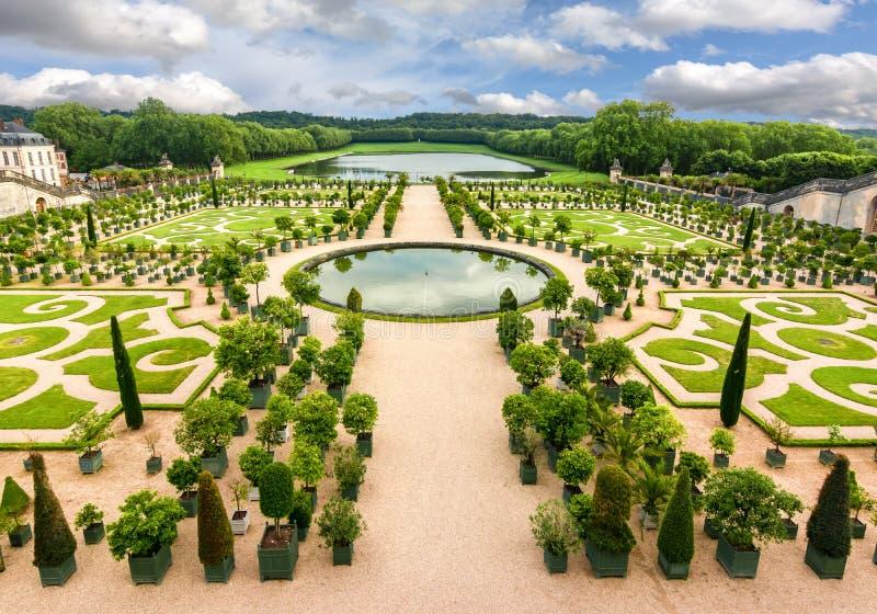 Jardim formal de Versalhes, Paris, França imagem de stock royalty free